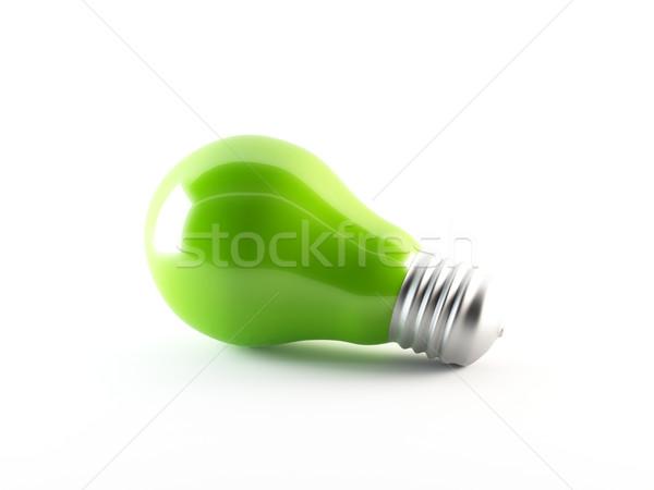 3D verde lâmpada Foto stock © cnapsys