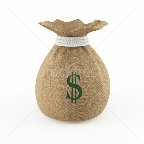 Pénz táska 3D renderelt kép üzlet pénzügy Stock fotó © cnapsys
