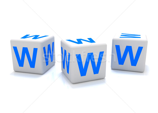 Www icon 3D world wide web abstract Stockfoto © cnapsys
