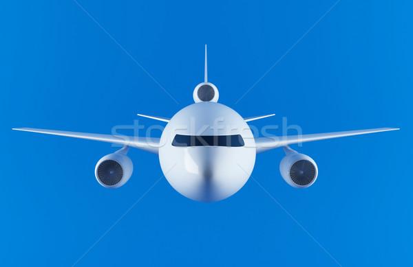 Avião 3D luz azul céu mundo Foto stock © cnapsys