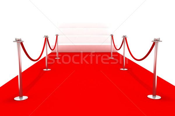 Tapete vermelho evento 3D festa filme Foto stock © cnapsys