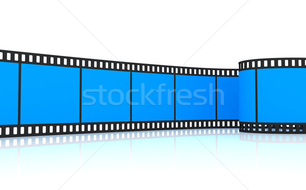 35mm Blauw film rollen 3D Stockfoto © cnapsys