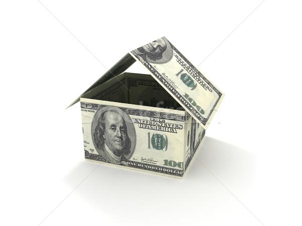 Jelzálog 3D renderelt kép ház ki 100 Stock fotó © cnapsys