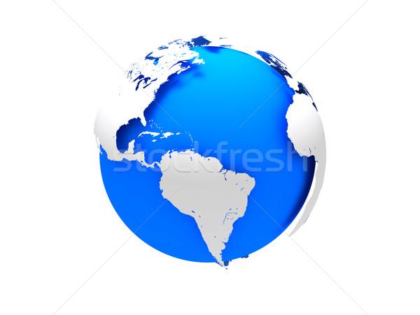 3D terra planeta terra globo mapa Foto stock © cnapsys