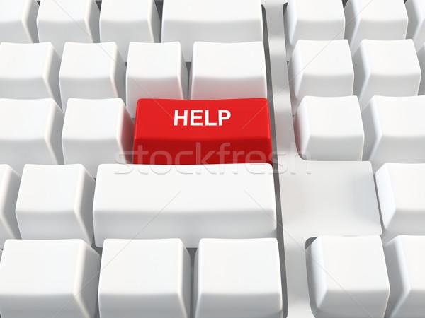 ヘルプ ボタン コンピュータのキーボード 赤 ビジネス コンピュータ ストックフォト © cnapsys