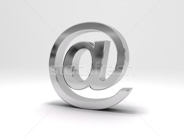 シンボル 3D レンダリング メタリック コンピュータ ストックフォト © cnapsys