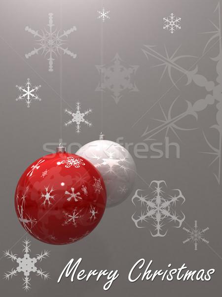 陽気な 実例 ボール 白 リボン ストックフォト © cnapsys
