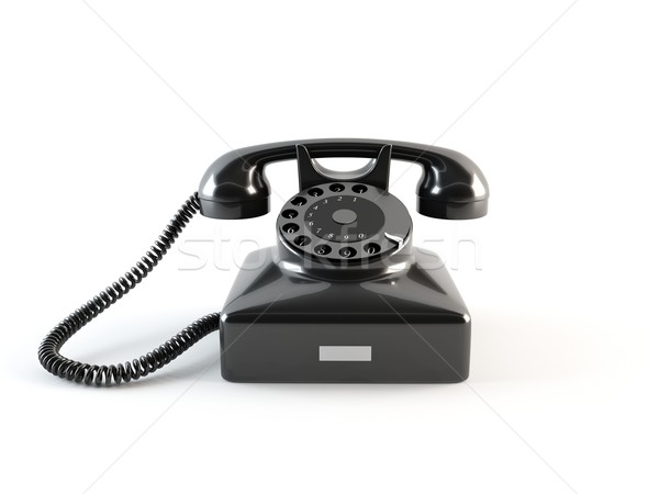 Velho telefone 3D retro telefone Foto stock © cnapsys