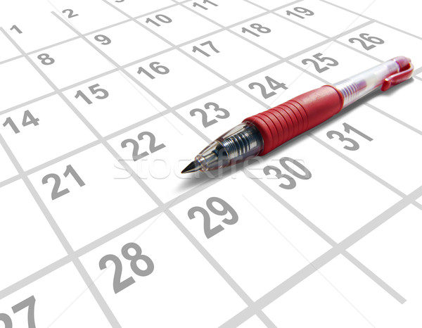 Red pen calendar Stock photo © cnapsys