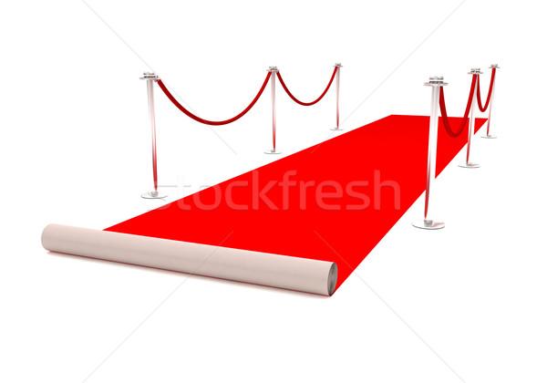 レッドカーペット 3D レンダリング イベント パーティ 映画 ストックフォト © cnapsys