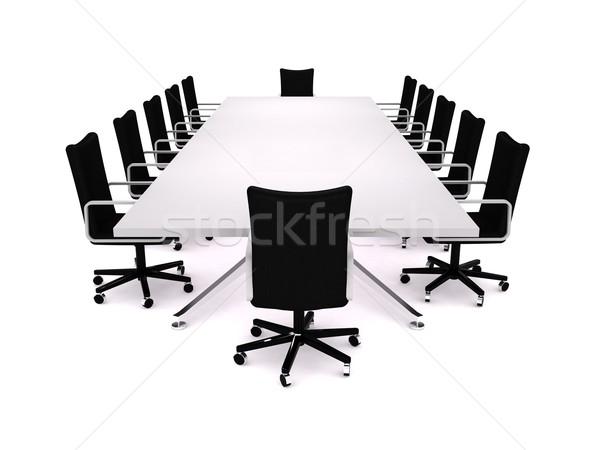 Boardroom 3D incontro di lavoro ufficio design Foto d'archivio © cnapsys