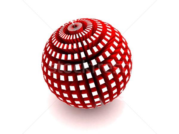 Vermelho esfera 3D bola banda Foto stock © cnapsys