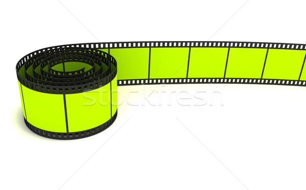 35mm zöld film zsemle 3D renderelt kép Stock fotó © cnapsys