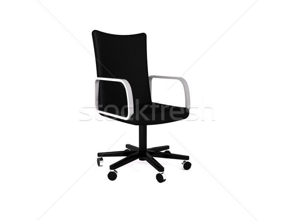 Ofis koltuğu 3D iş ofis moda Stok fotoğraf © cnapsys