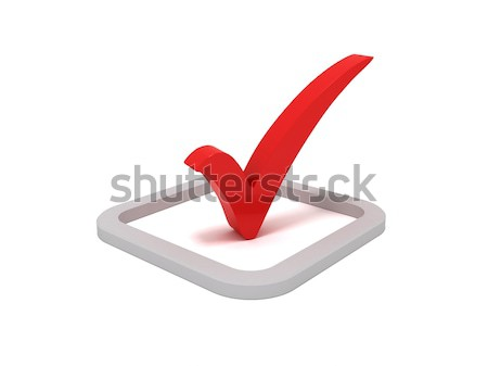 Red check mark sign Stock photo © cnapsys