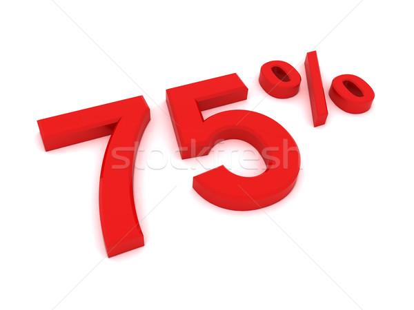 Por cento 3D assinar armazenar financeiro Foto stock © cnapsys