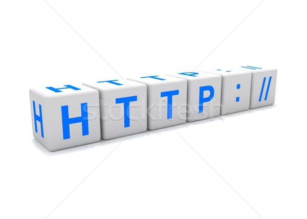 Http icon Stock photo © cnapsys