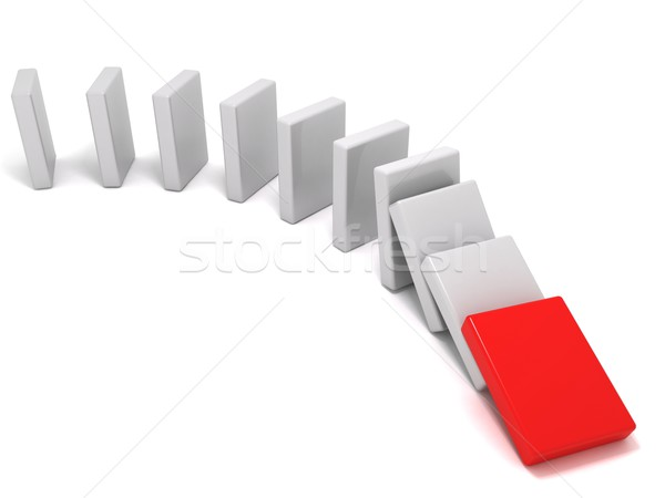 The domino effect Stock photo © cnapsys