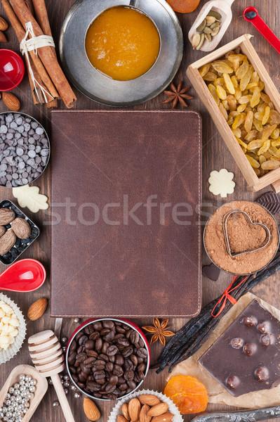 Doce férias receitas cobrir livro escrever Foto stock © Coffeechocolates