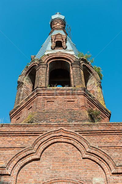 Cúpula velho tijolo igreja típico Rússia Foto stock © Coffeechocolates