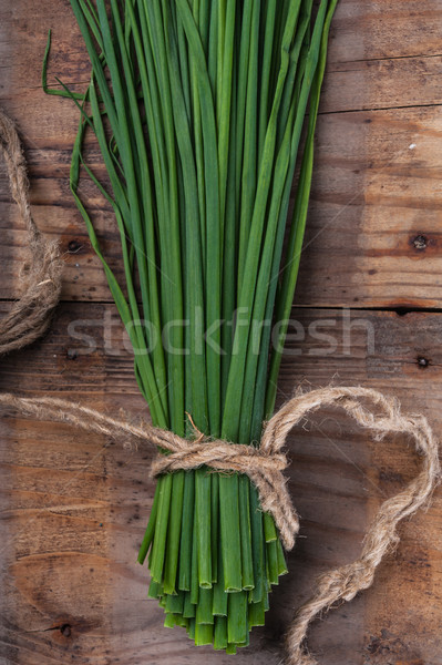 Bunch green onion chives Stock photo © Coffeechocolates