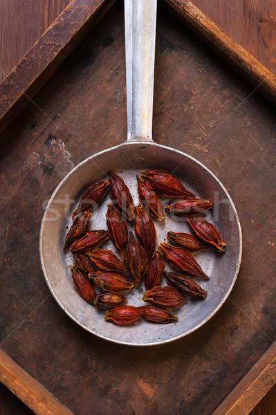 Fruit Amomum tsao-ko or Cao Guo Stock photo © Coffeechocolates