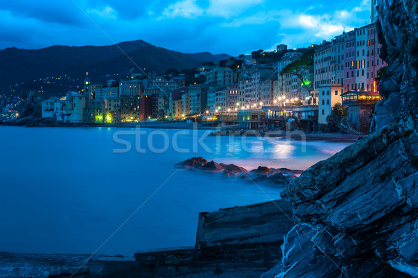 Noite passeio público italiano aldeia céu rua Foto stock © Coffeechocolates