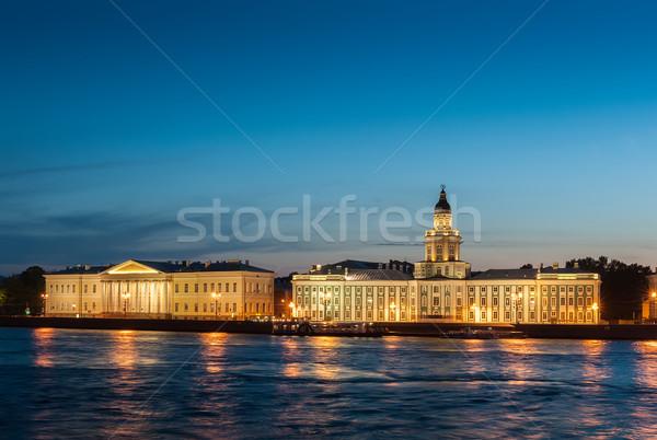 Night St. Petersburg Stock photo © Coffeechocolates