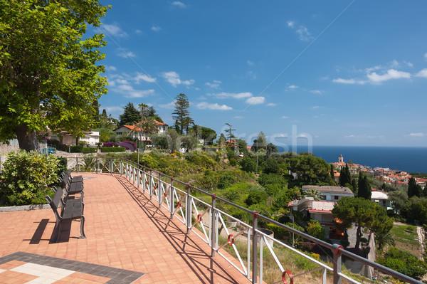 Topo ver italiano cidade mediterrânico mar Foto stock © Coffeechocolates