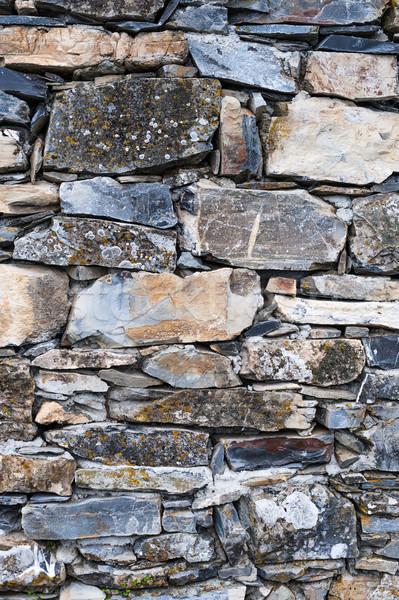 Muro di pietra rock pietra mattone architettura concrete Foto d'archivio © Coffeechocolates