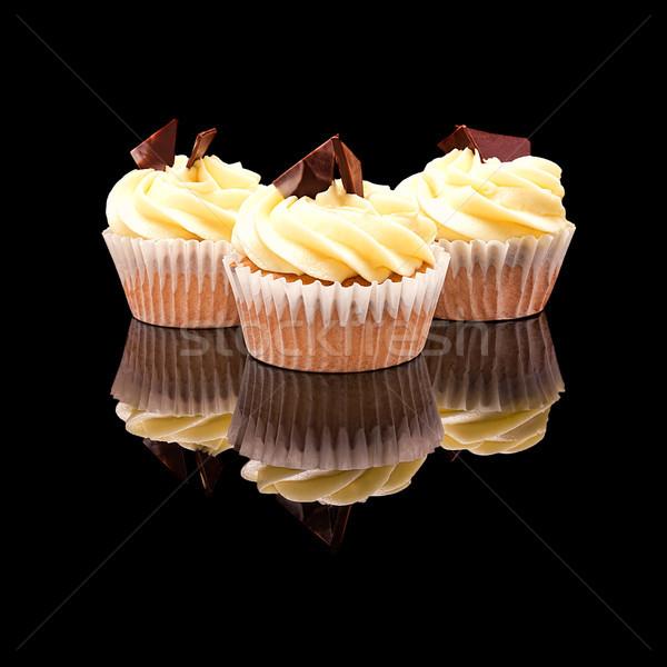 üç çörek sarı krem parçalar Stok fotoğraf © Coffeechocolates