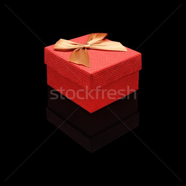 Red close gift box Stock photo © Coffeechocolates