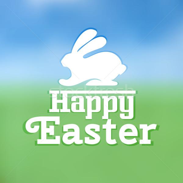 Typographic text on Easter theme vector Stock photo © Coffeechocolates