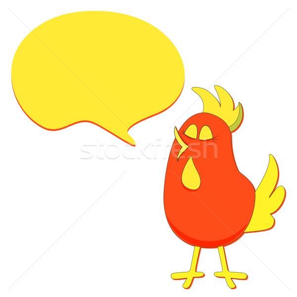 Сток-фото: Cartoon · птица · речи · пузырь · вектора · весны · рисованной