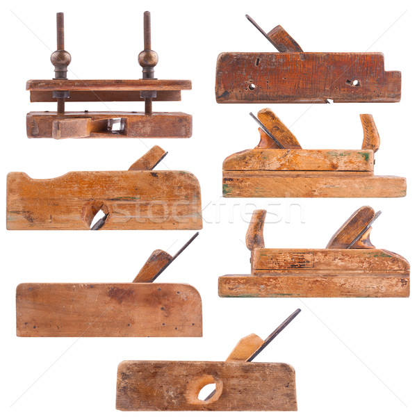 Collection of antique woodworking tools Stock photo © Coffeechocolates