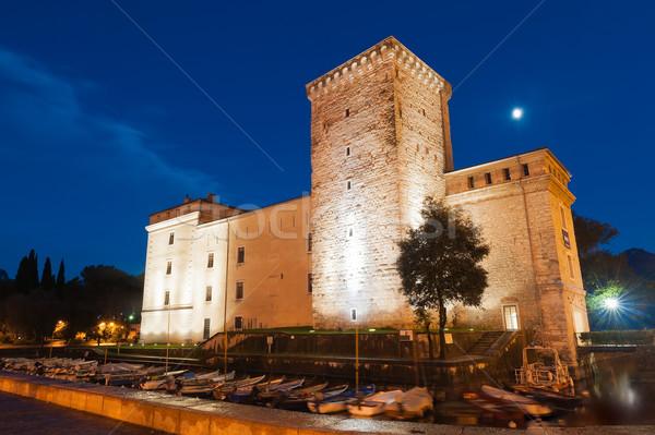 Museo edificio italiano ciudad luna azul Foto stock © Coffeechocolates