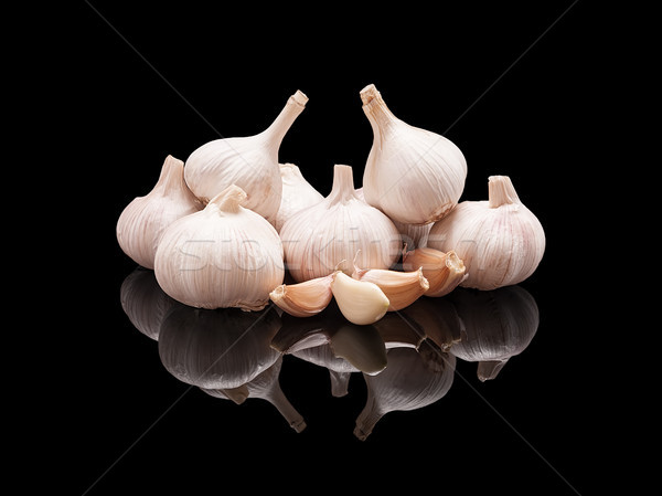 Bunch of raw garlic Stock photo © Coffeechocolates