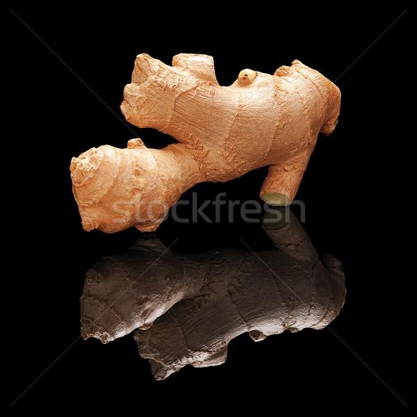 Uno fresche non pelati zenzero radice Foto d'archivio © Coffeechocolates