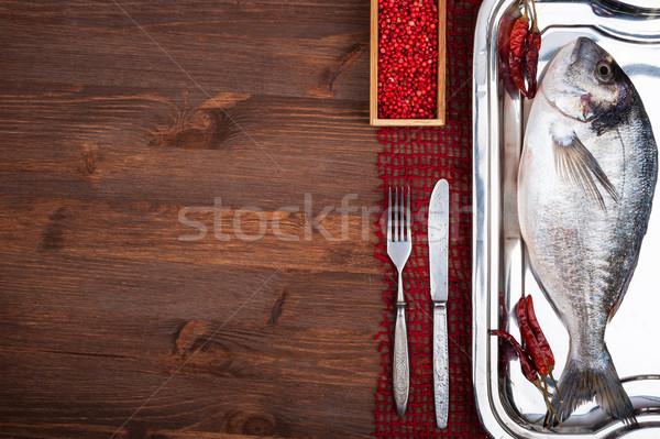 Dorado fish Stock photo © Coffeechocolates