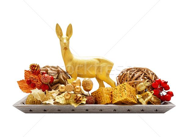 Christmas arrangement isolated on white Stock photo © Coffeechocolates