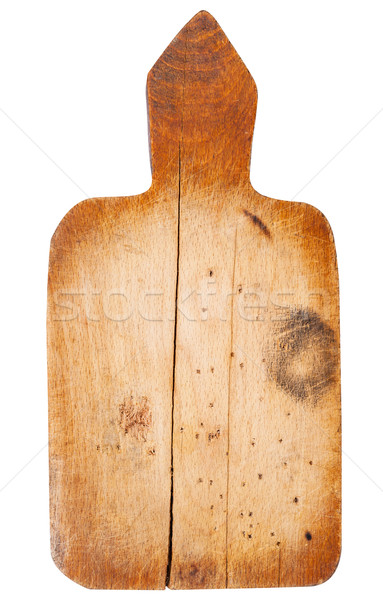 Old wooden kitchen board Stock photo © Coffeechocolates