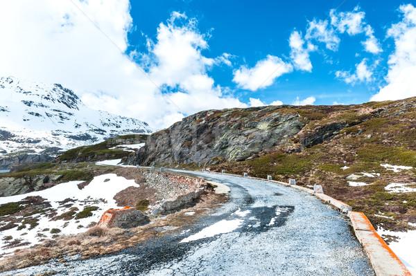 Itália estrada caminhadas céu neve Foto stock © Coffeechocolates