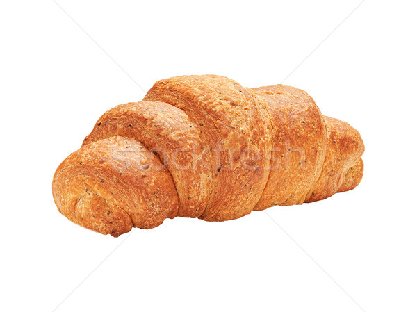 One whole cereal croissant isolated on white Stock photo © Coffeechocolates