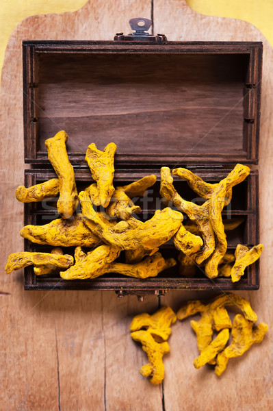 Rhizome of turmeric Stock photo © Coffeechocolates