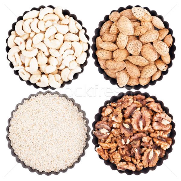Assorted nuts Stock photo © Coffeechocolates