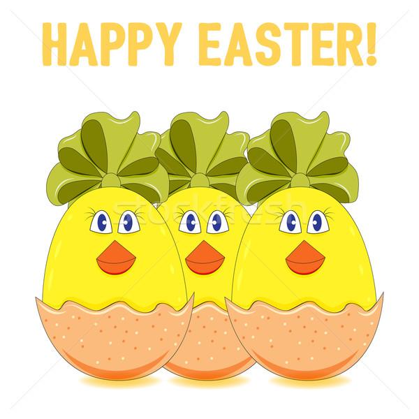 Easter chicks vector Stock photo © Coffeechocolates