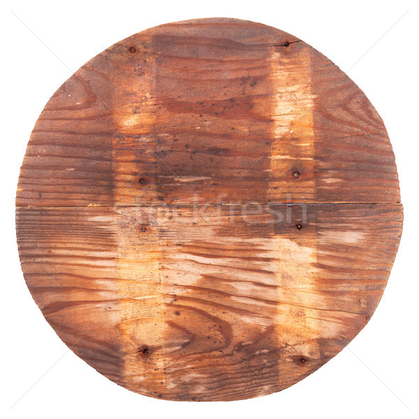 Wooden circle with light stripes Stock photo © Coffeechocolates