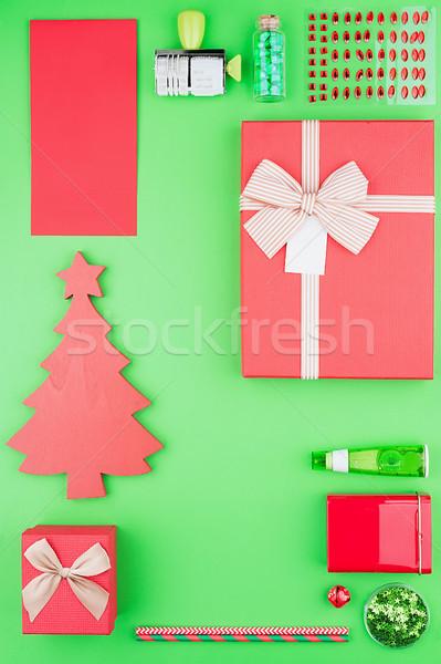 Natal vermelho verde cores Foto stock © Coffeechocolates