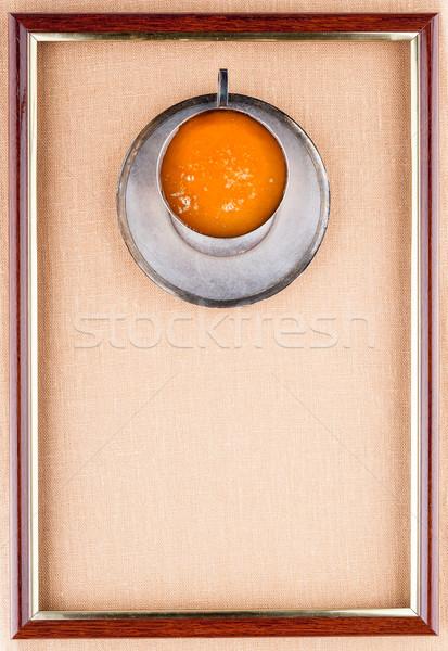 Ritratto miele ferro Cup piattino frame Foto d'archivio © Coffeechocolates