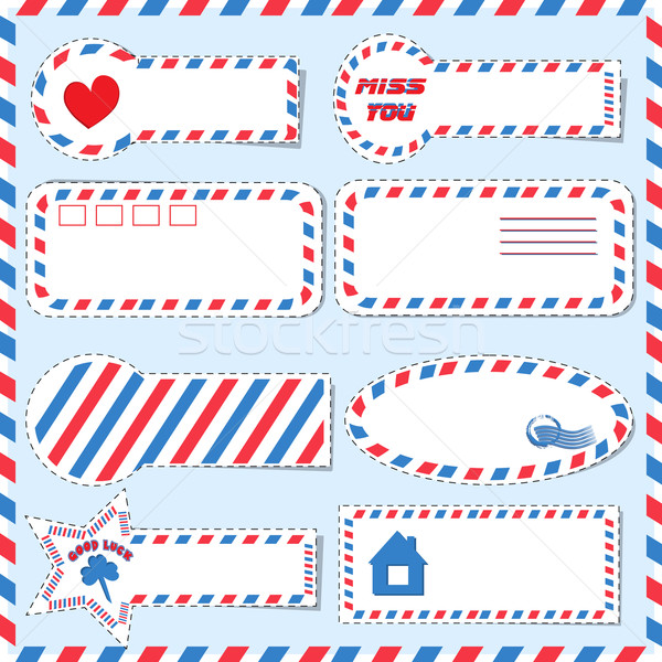 Postal stickers vector Stock photo © Coffeechocolates